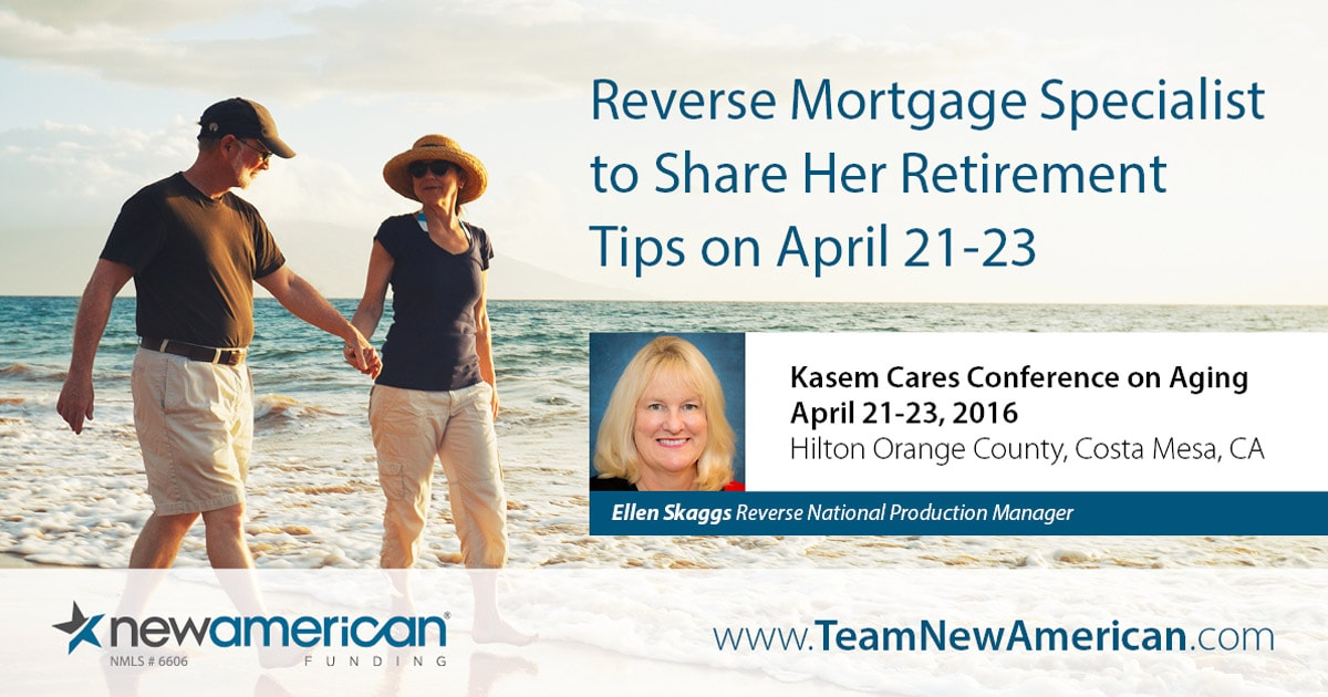 New American Funding's Ellen Skaggs to Speak at Kasem Cares Conference on Aging